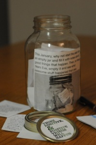 My 2013 jar is chock-full of positivity. How about yours?