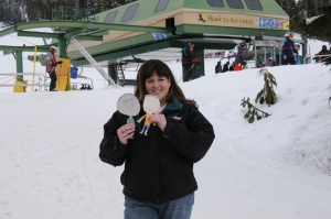 We went up to Mount Washington Alpine Resort, where people were skiing and snowboarding.