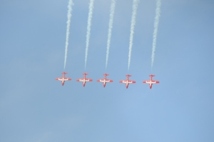 The Snowbirds come to Comox every spring to train before the beginning of their airshow season.