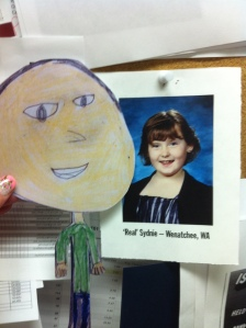 """Flat"" Mark and ""Real"" Sydnie, whose ""Flat Sydnie"" I hosted a few years ago."