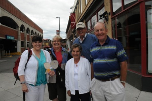 While we were in Byward Market, we had lunch with some friends who were excited to learn about the Flat Stanley Project. The woman second from left was Susie's Brownie leader when she was a girl.