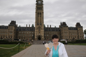 Ottawa is considered Canada's capital city. The Parliament Buildings are where the federal government operates. We took a special trip to the Parliament Buildings with the Flat Mark Twins.