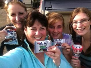 Lynn Hooper, me, Samantha Oldale, Casandra Dievert after hiking to Five Finger Rapids.